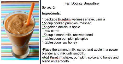 Fall Bounty Smoothie Recipe