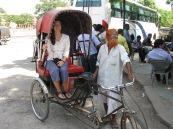 Me in a rickshaw, Jaipur